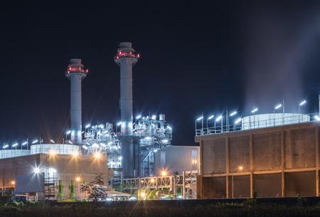 Elektriciteitscentrale 's nachts