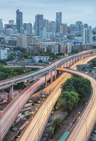 the expressway, Bangkok cityscape Reklamní fotografie