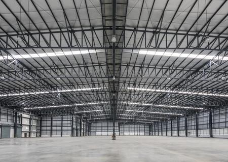 Large modern warehouse in logistic area Foto de archivo
