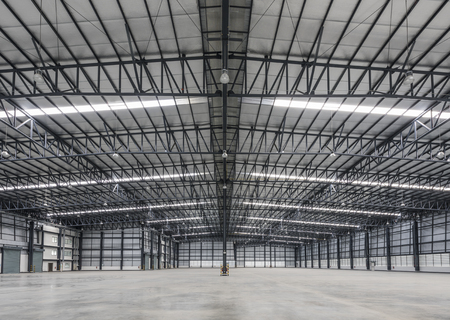 Large modern warehouse in logistic area Stockfoto