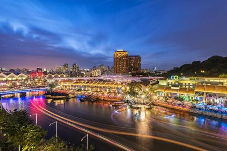 Singapore night at Clarke Quay