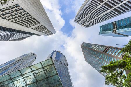 Het centrale financiële en zakelijke districtsgebouw van Singapore