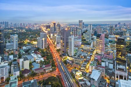 Bangkok city at night Reklamní fotografie