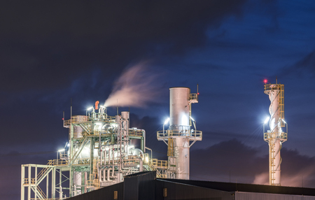 petrochemical plant: petrochemical plant Stock Photo