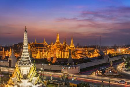 Gouden Tempel Wat Phra Kaeo, Tempel van Emerald Buddha Bangkok, Azië Thailand Stockfoto
