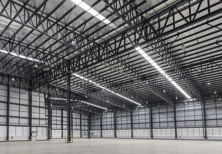Large modern warehouse in logistic area Фото со стока
