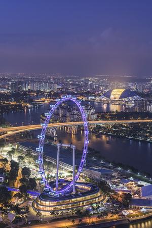Singapore city skyline at night Reklamní fotografie