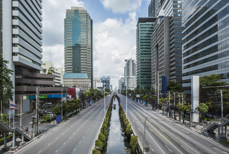 Satorn Road a Center of Financial Building in Bangkok