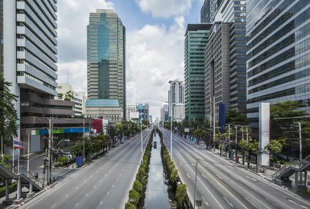 Satorn Road ein Zentrum des Finanzgebäudes in Bangkok