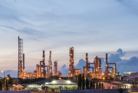 petrochemische fabriek Stockfoto