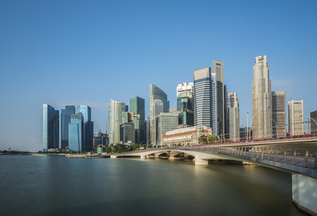 Landscape of Singapore city in day morning time