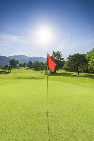 golf course with sunny day