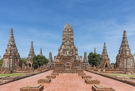 Old Temple wat Chaiwatthanaram at Ayutthaya, Thailand Stockfoto