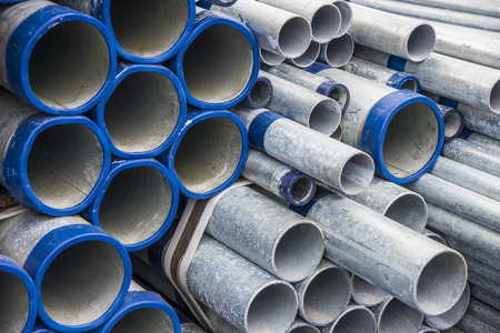 many size of steel pipes, construction material