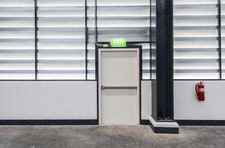 exit door: warehouse exit door
