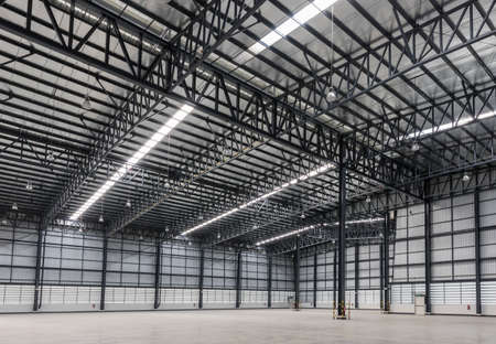 Large modern warehouse in logistic area