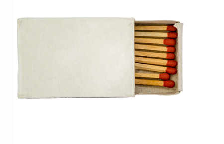 match box: Paper match box isolated on white background. include clipping path.