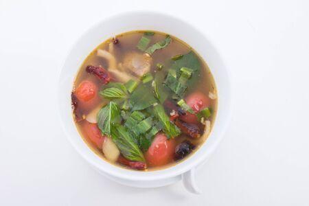Pork bone soup is food thailand photo