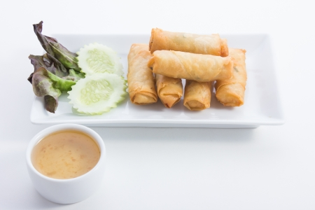 Spring Rolls is food thailand photo