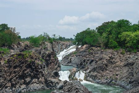 Khone Phapheng Waterfall, Southern Laos  Stock Photo - 18854262