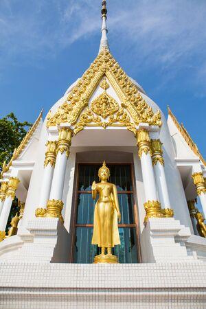 wat pratat kwan meung at chumphon in thailand