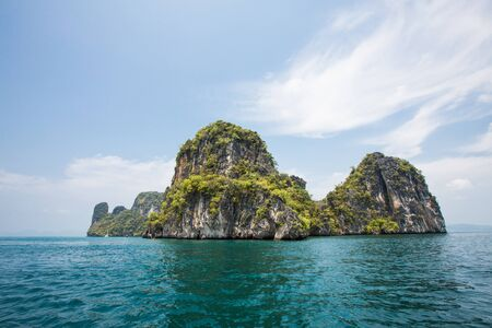 Adventure tourism on koh hong beach in Krabi, Thailand Stock Photo - 19278043