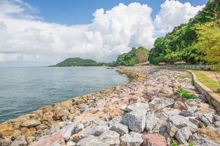 Protect coastal waves , Path around the shoreline photo