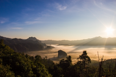 The morning sun-Phulangkha at Phayao in thailand  photo