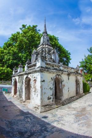 Pagoda architecture at Phetchaburi in thailand