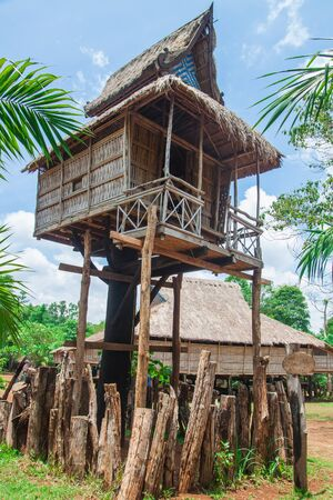 Tribal house in lao.