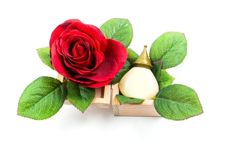 Massage with aromatic rich fragrance. Of flowers and herbs. photo
