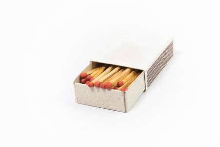 matchbox: top view matchbox on white