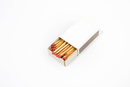 unlit: top view matchbox on white