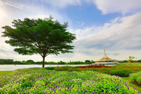 Green Park in the city of Bangkok in Thailand