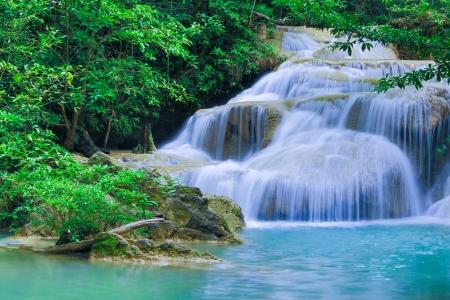cascades: Erawan cascata Parco Nazionale Kanjanaburi Thailandia