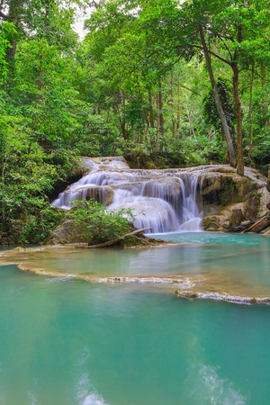 Erawan waterfall National Park Kanjanaburi Thailand photo