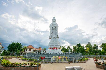 Wat Guan Yin temple in Thailand waterfront.