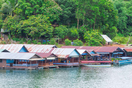 Houses along the river naturally