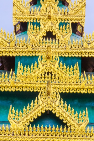 Burmese temple architecture in Thailand.