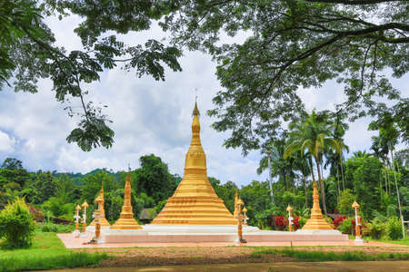Pagoda in the countryside thailand.
