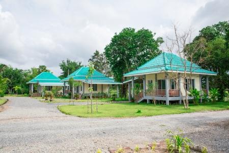 Thailand tourist resort lodges.
