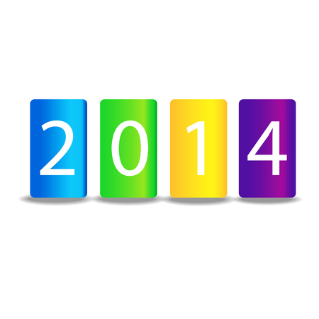 2014 Happy New Year greeting card.  Vector