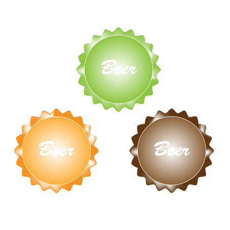 illustration of vintage beer bottle cap  Vector