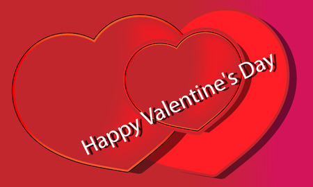 Happy Valentine's Day lettering Greeting Card  Vector