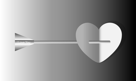 arrow love  ,Happy Valentine's Day ,vector Stock Vector - 23087756