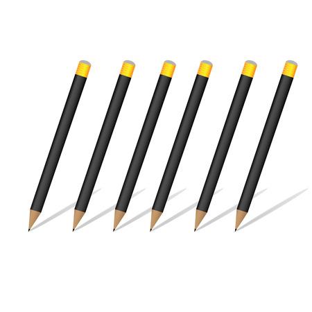 pencils. Illustration on white background Vector