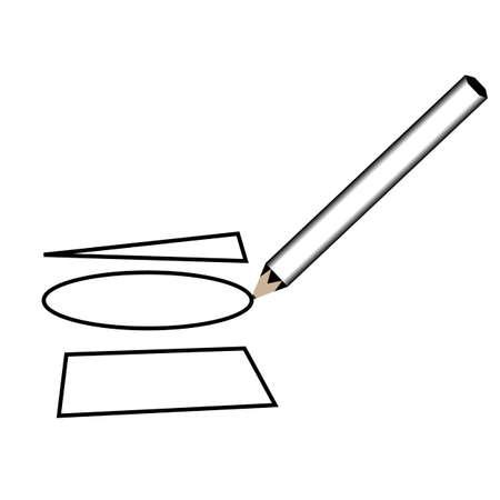 Pencil geometry . vector