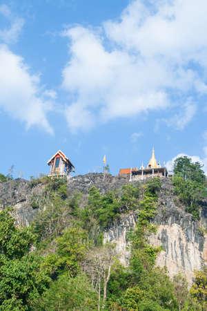 steep cliffs: wat on the steep cliffs in Thailand