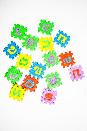 for children toys: Toys for my children. Game alphabet Thailand.