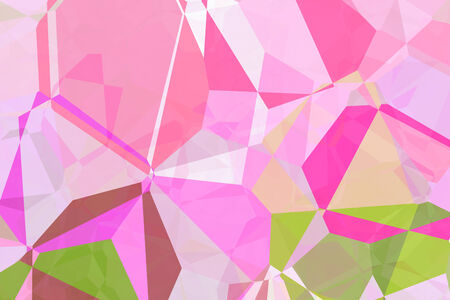 The design of a pink background and colorful abstract art in a fantasy dream., mixed effects polygon Painting. photo